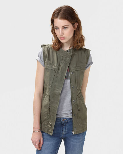 DAMES ARMY JACKET Olijfgroen