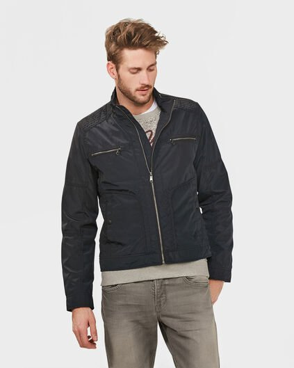 HEREN WATER REPELLENT BIKER JACKET Donkerblauw