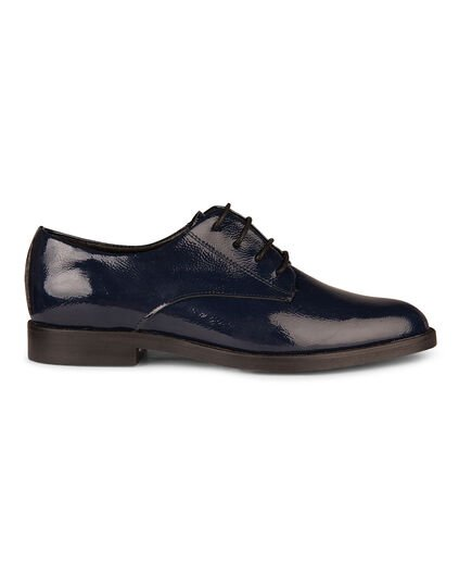 DAMES REAL LEATHER VETERSCHOENEN Donkerblauw