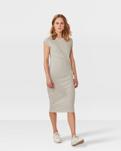 DAMES DRAPED DETAIL JURK Wit