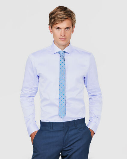 HEREN FINEST COTTON SLIM FIT OVERHEMD Blauw