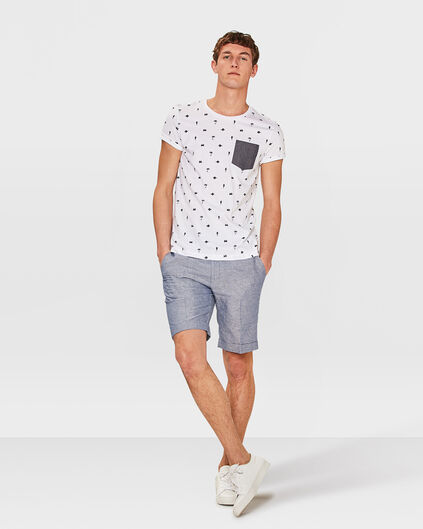 HEREN SLIM FIT SHORT BRODY Marineblauw