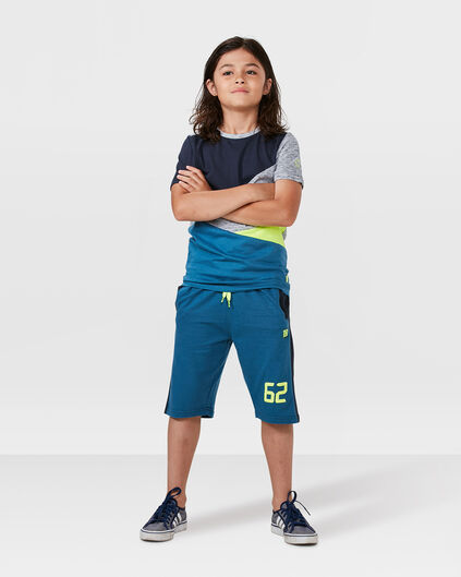 JONGENS PERFORMANCE SWEATSHORT Blauw
