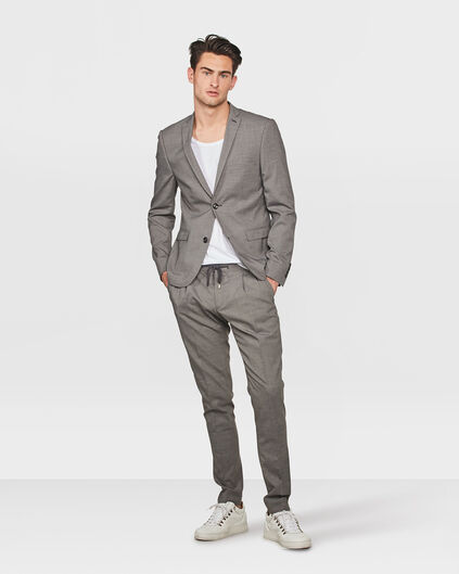 HEREN SLIM FIT PANTALON BARNSLEY Grijs