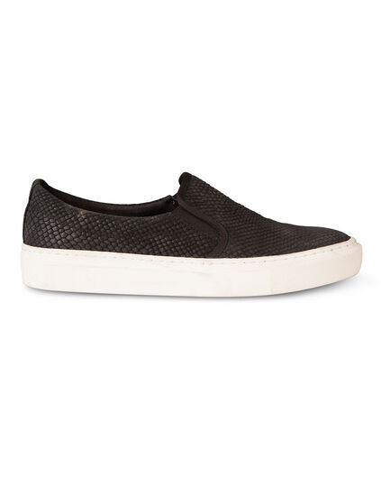DAMES CROCO SLIP ON SNEAKERS Zwart