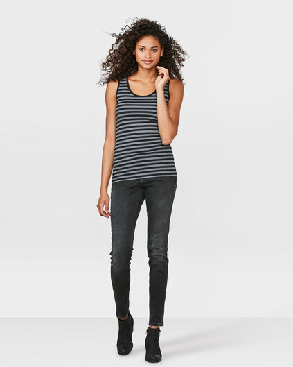 DAMES MID RISE SUPER SKINNY JEANS Donkergrijs