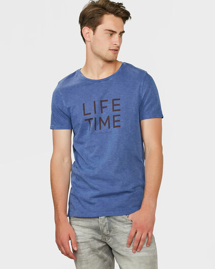 HEREN SLIM FIT T-SHIRT Blauw