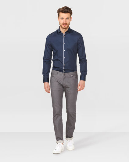 HEREN SLIM FIT OVERHEMD Kobaltblauw