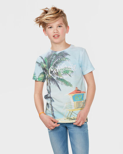 JONGENS CALIFORNIA PRINT T-SHIRT Wit