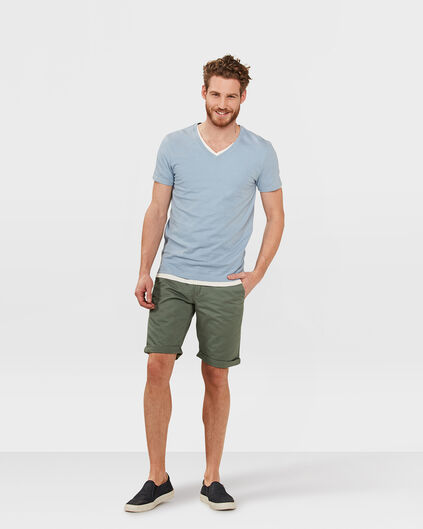 HEREN REGULAR FIT CHINO SHORT Groen