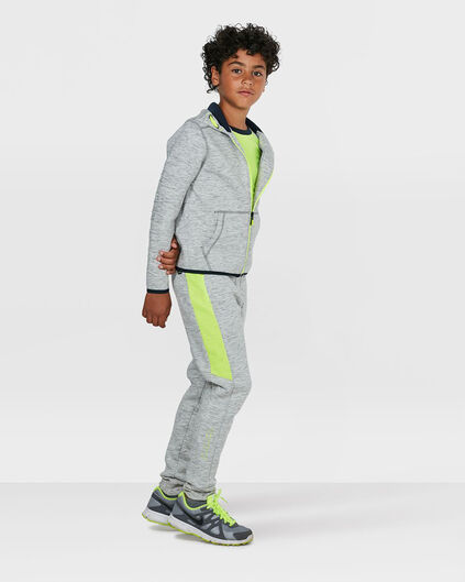 JONGENS PERFORMANCE WEAR NEON DETAIL SWEATPANTS Lichtgrijs