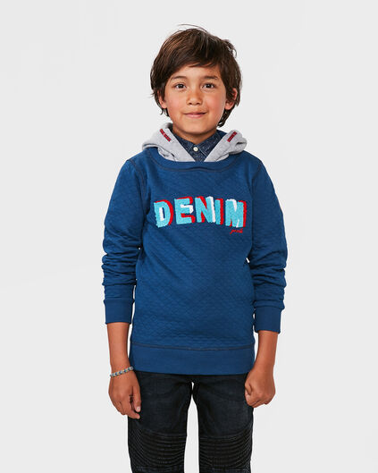 JONGENS DENIM SWEATER Donkerblauw
