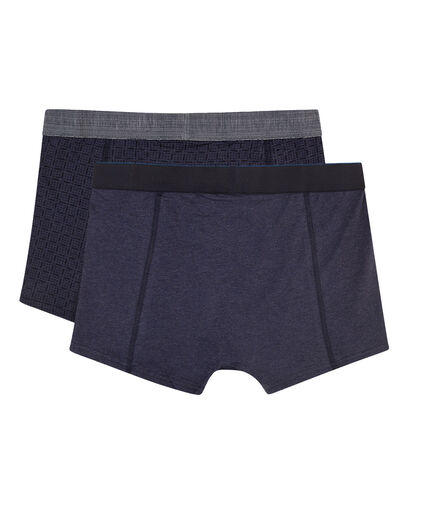 HEREN BLUE RIDGE BOXERSHORTS, 2-PACK Blauw