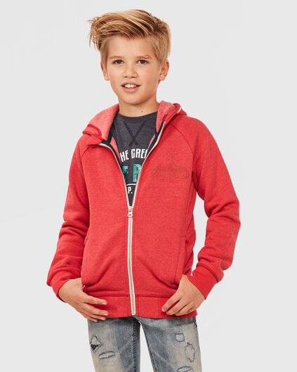 JONGENS HOODED SWEATVEST Roze