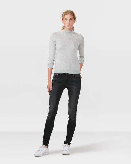 DAMES MID RISE SKINNY RECOVERY JEANS Zwart