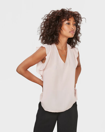 DAMES RUFFLE TOP Oudroze