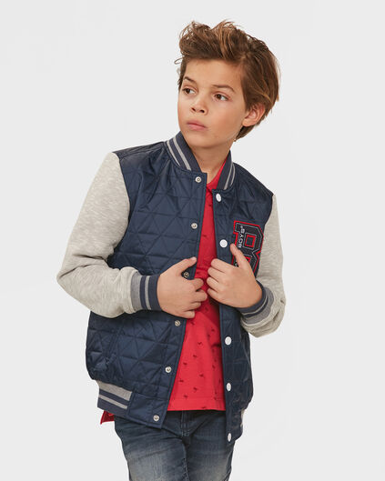 JONGENS BAD BOYS BASEBALL JACKET Donkerblauw
