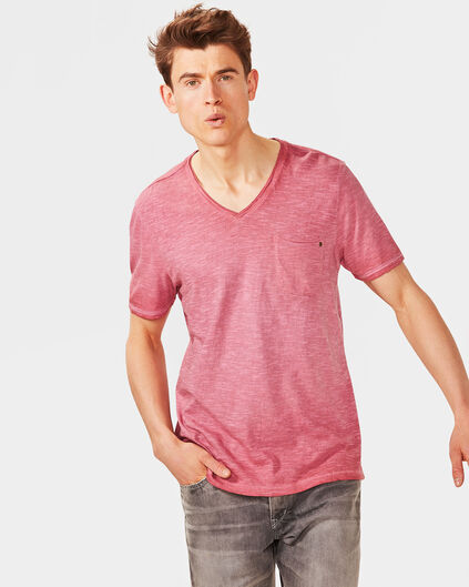 HEREN OIL DYED T-SHIRT Rood