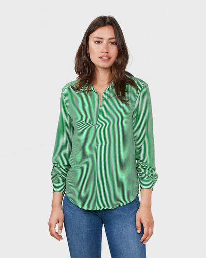 DAMES STRIPE BLOUSE Groen