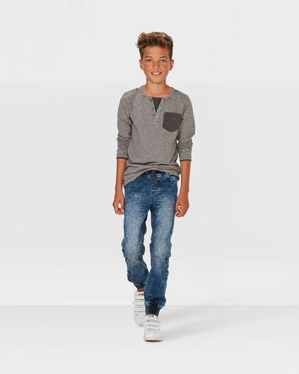 JONGENS SLIM TAPERED JOG DENIM Blauw