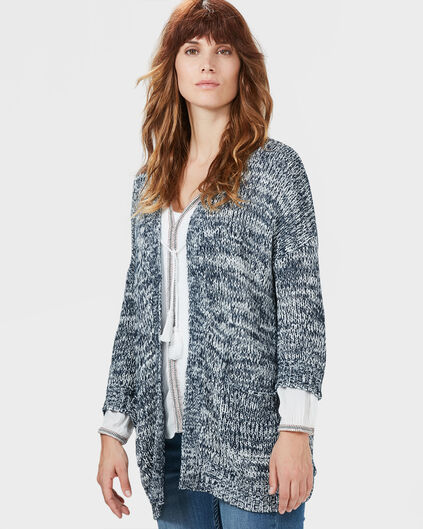 DAMES COCOON KNIT VEST Donkerblauw