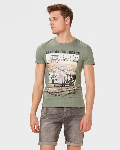 HEREN BEACH PRINT T-SHIRT Khaki
