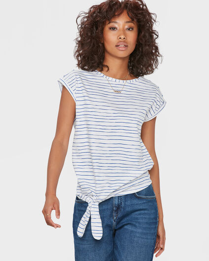 DAMES STRIPE T-SHIRT Blauw