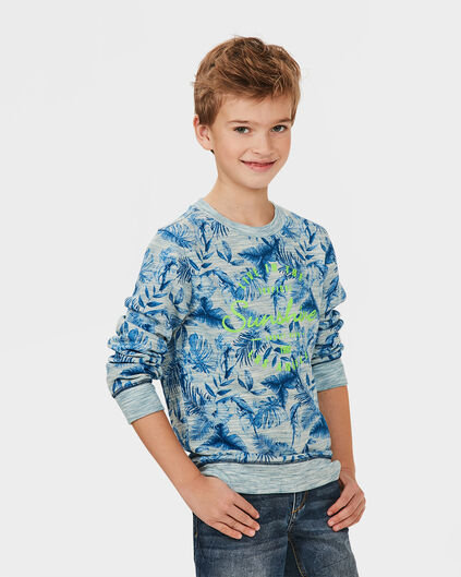 JONGENS JUNGLE PRINT SWEATER Blauw