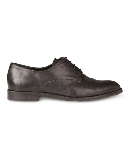 DAMES REAL LEATHER VETERSCHOEN Zwart