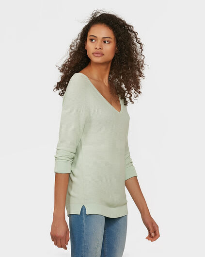 DAMES V-NECK KNIT TRUI Mintgroen