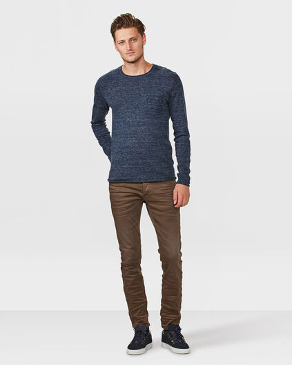 HEREN SKINNY TAPERED SUPER STRETCH BROEK Bruin