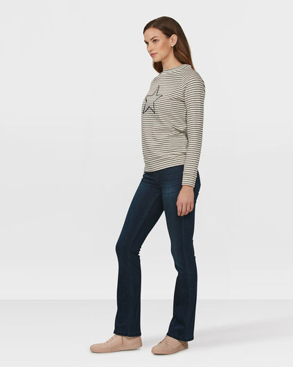 DAMES HIGH RISE SKINNY FLARE RECOVERY JEANS Donkerblauw