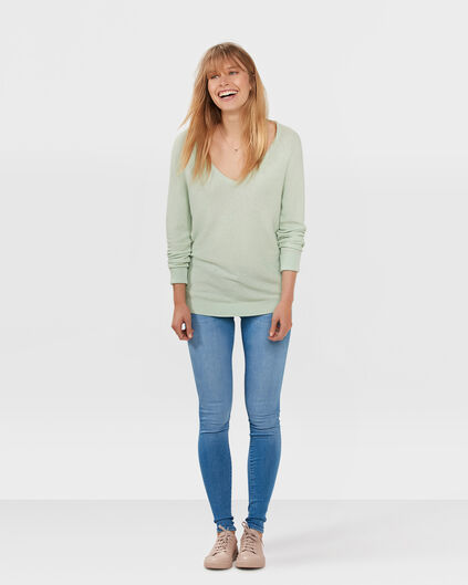 DAMES MID RISE SUPER SKINNY JEANS Blauw