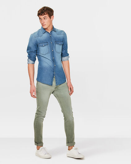 HEREN SLIM TAPERED JOG DENIM Legergroen