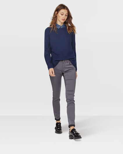 DAMES SLIM FIT BROEK Antraciet