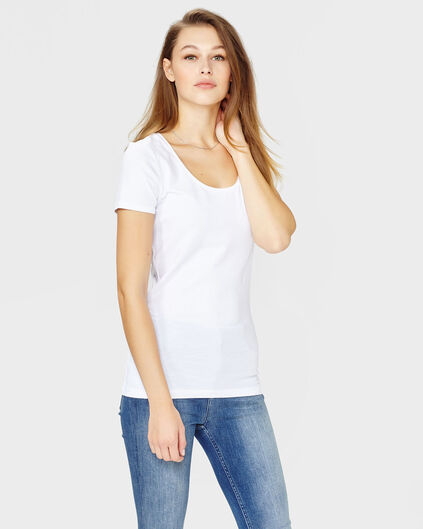 DAMES ORGANIC COTTON R-NECK T-SHIRT Wit