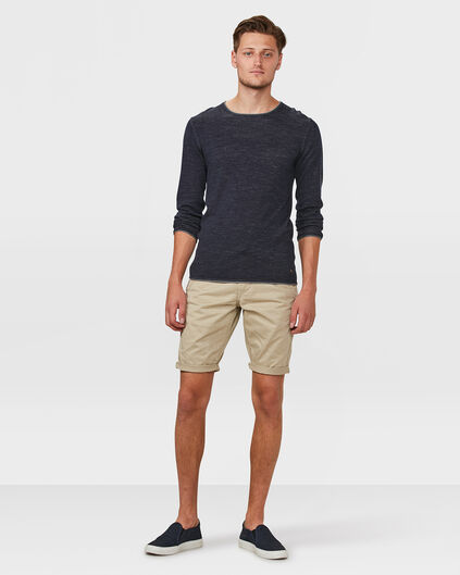 HEREN REGULAR FIT CHINO SHORT Lichtbruin