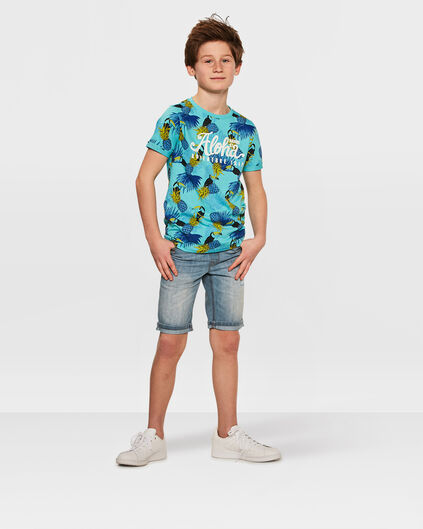 JONGENS REGULAR FIT SHORT Lichtblauw