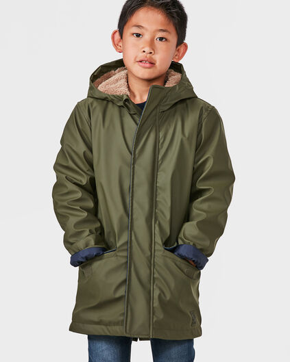 JONGENS RAINCOAT JACKET Legergroen