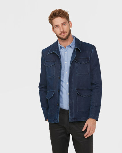 HEREN SKINNY FIT WORKER JACKET Donkerblauw