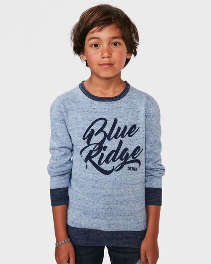 JONGENS BLUE RIDGE PRINT SWEATER Gebroken wit