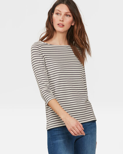 DAMES STRIPED SHIRT Antraciet