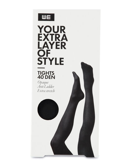 DAMES 40 DEN TIGHTS Zwart