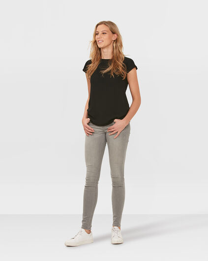 DAMES MID RISE SKINNY SUPER STRETCH JEANS Grijs