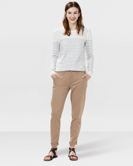 DAMES REGULAR FIT CHINO Beige