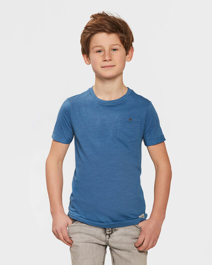 JONGENS ONE POCKET R-NECK T-SHIRT Blauw