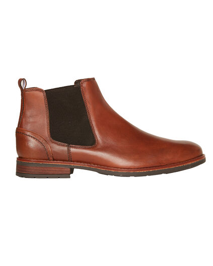 HEREN REAL LEATHER CHELSEA BOOTS Cognac