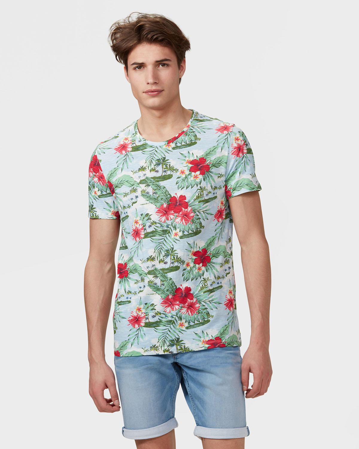 Heren all over tropical print t shirt 79203159 we fashion for All over print t shirt