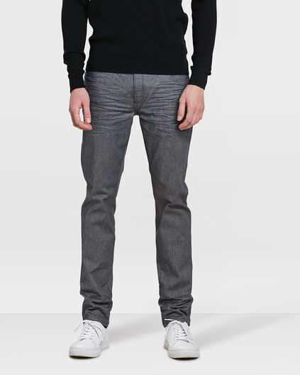 HEREN SLIM TAPERED SUPER STRETCH JEANS Grijs