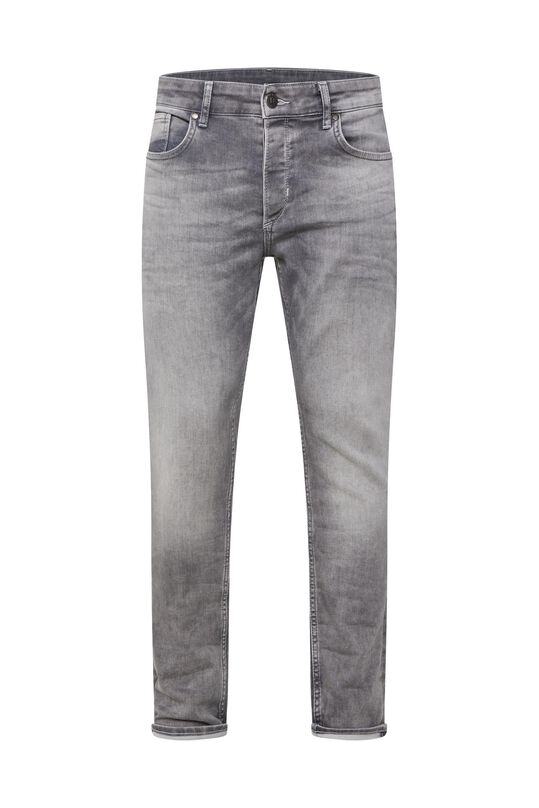 Heren slim fit jog denim jeans Lichtgrijs
